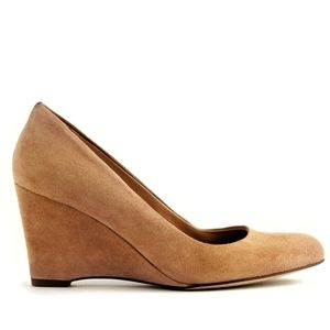 J.Crew Martina Suede Wedge in Tan Size 7.5